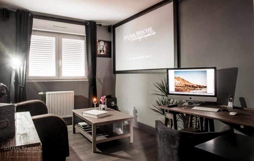 Nouveau bureau salon d accueil photographe mariage nord et dans la france - Amenager bureau dans salon ...