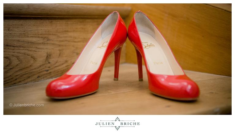 Chaussure Louboutin mariée