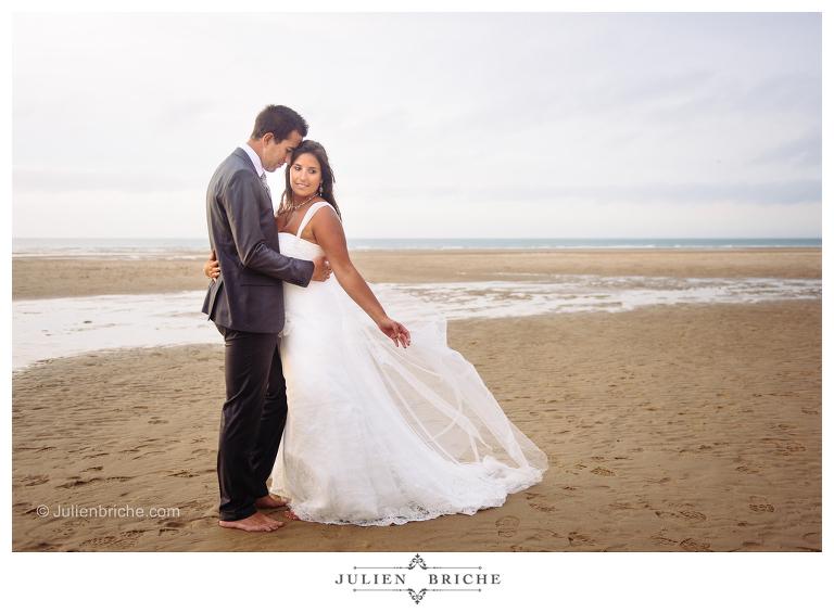 Séance photo mariage a la plage