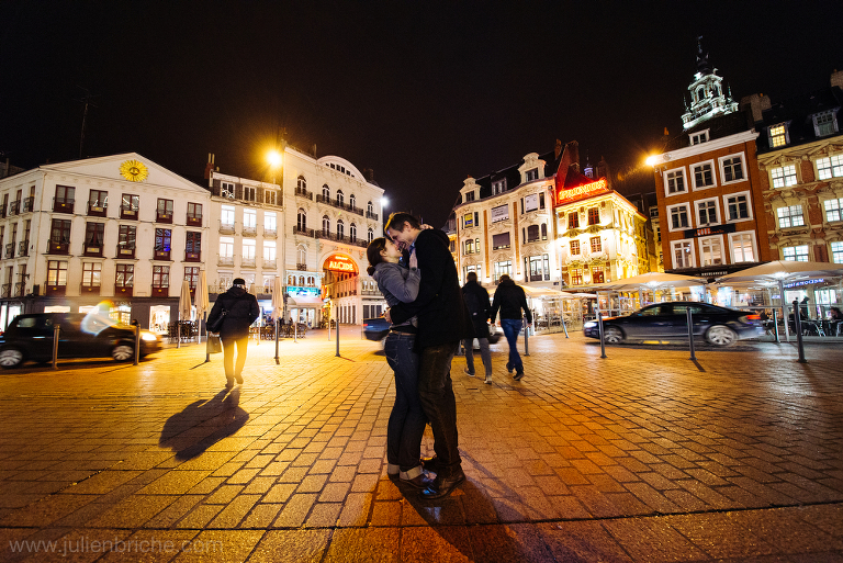 Seance photos d'un couple à Lille