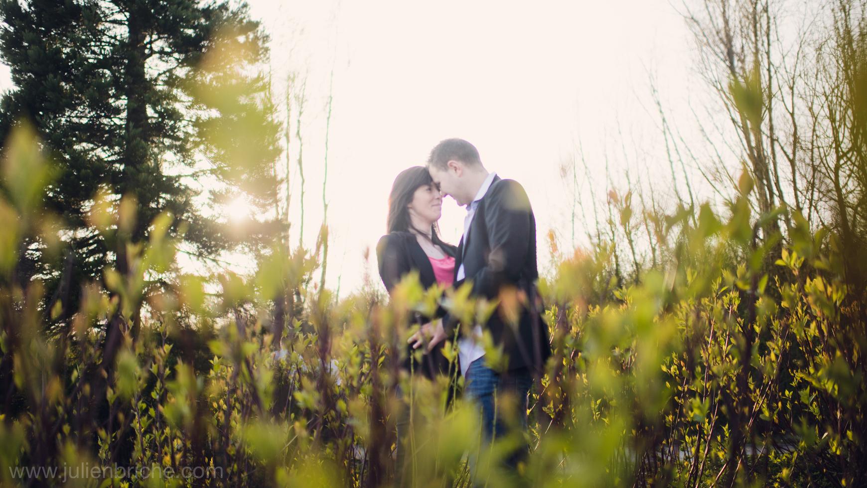 Une séance photo en amoureux avec une petite particularité
