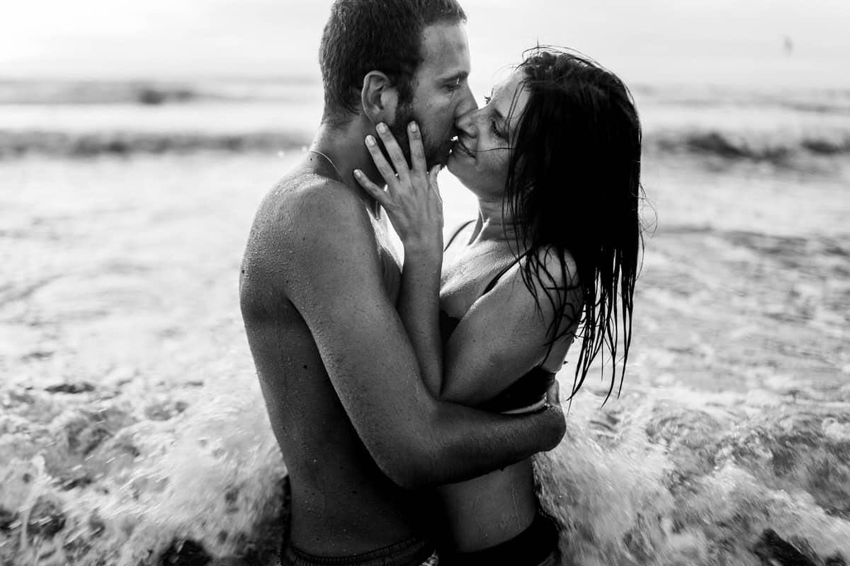 Photo de couple a la plage