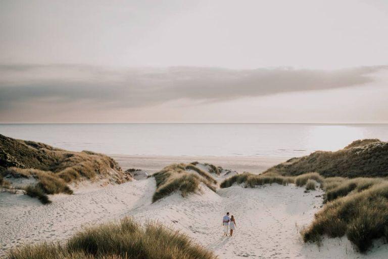 Photo de couple à Stella plage