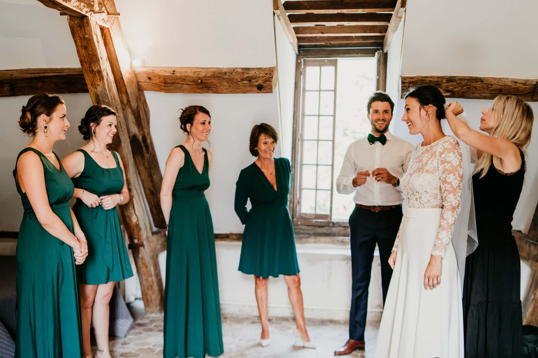 Mariage élégant au Château de Serans